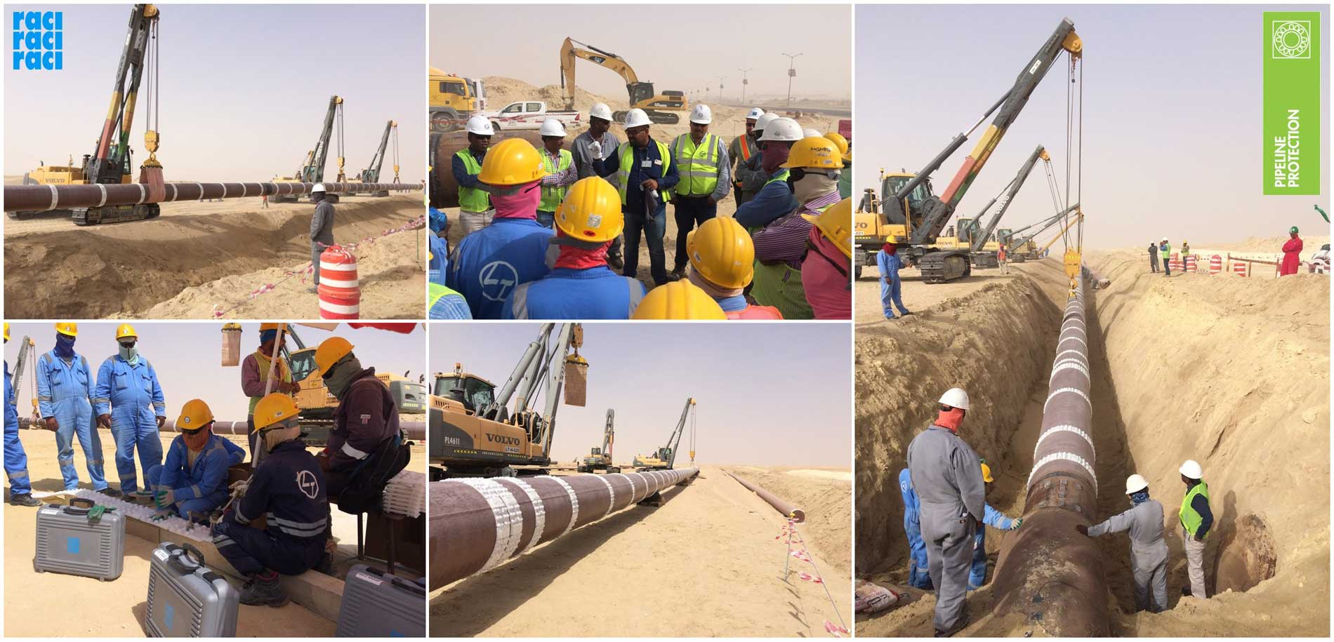 Once again Raci has been selected as partner to complete this Saudi Aramco big project. The installation of our HDPE Spacers CFD25 and CDL25 was supervised by us in the presence of Saudi Aramco Officials.